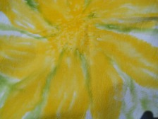 floral napkin close up