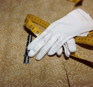 tape and gloves